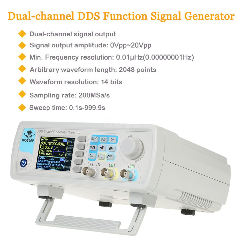 Dual Channel Dds Function Signal Generator Arbitrary Waveform 1hz Frequency Circuit With High Performance The It Adopts Large Scale Of Fpga Integrated Circuits Speed Mcu Microprocessor And Precision Oscillator